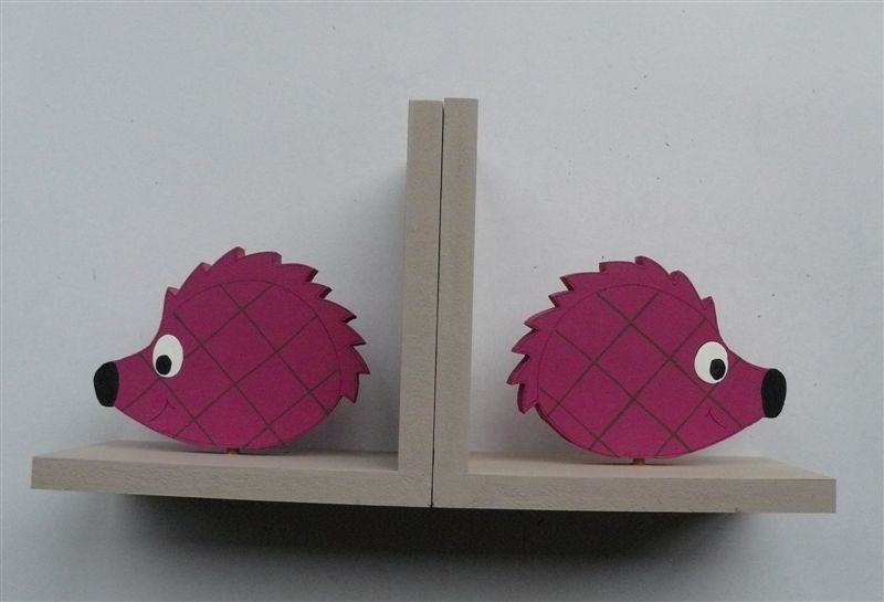 Bookends with hedgehogs
