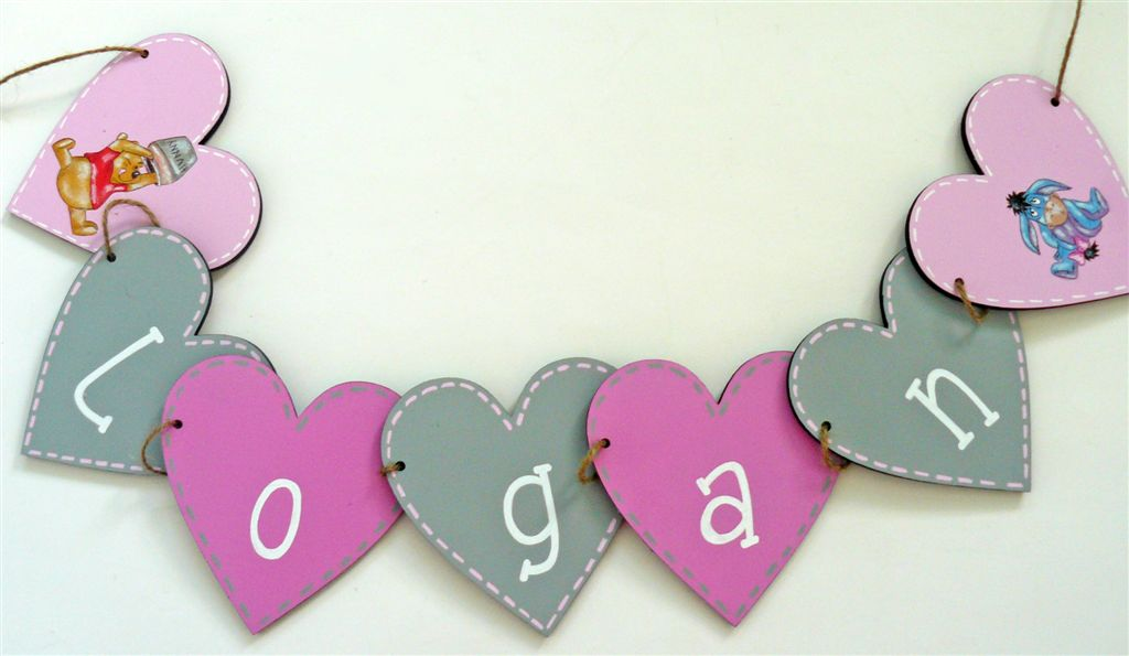 Name Bunting from wood