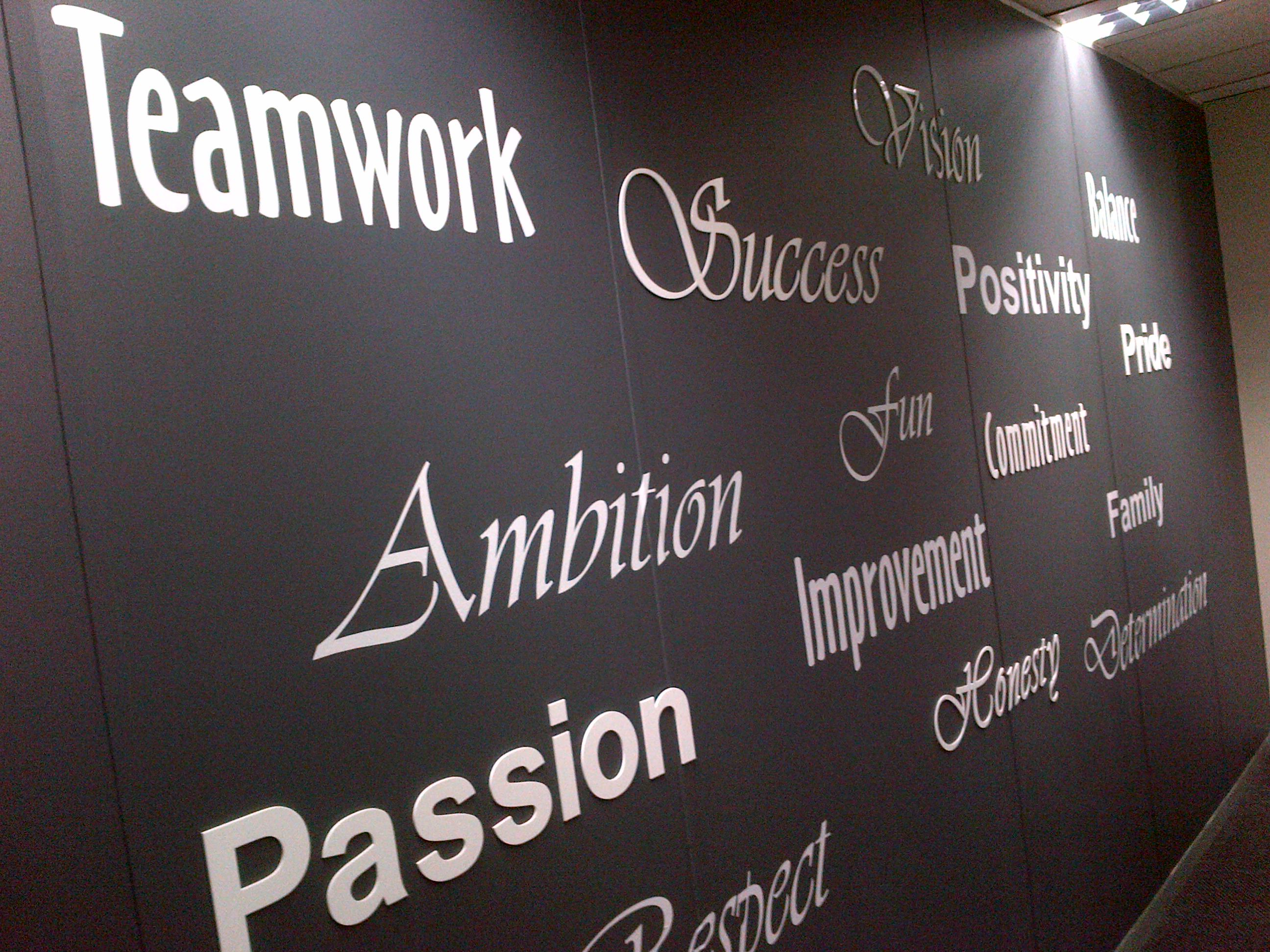 Corporate Wall Letters